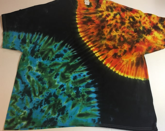 Sun and Earth Tie Dyed Tee shirt all sizes