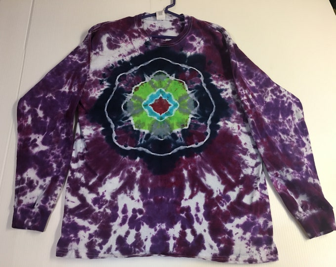 Tie Dyed Long Sleeved Mandala Large