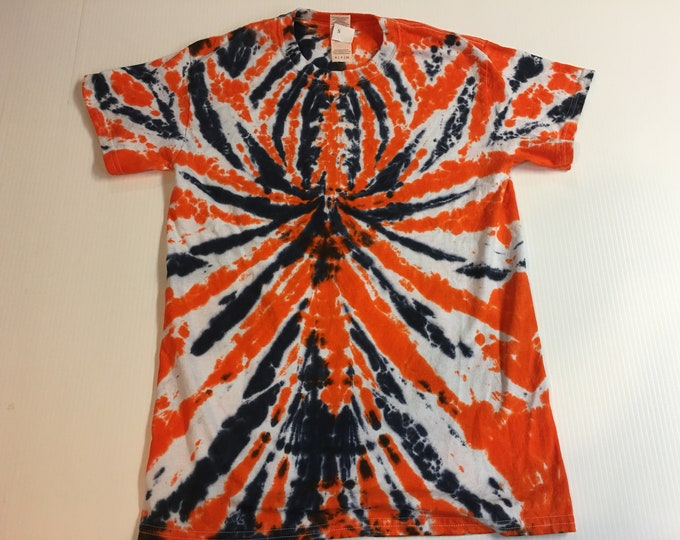 Spider Spiral Tie Dye Short Sleeve Tee Small