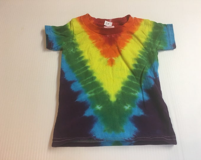 V-patterened Tie Dye Child's shirt all sizes