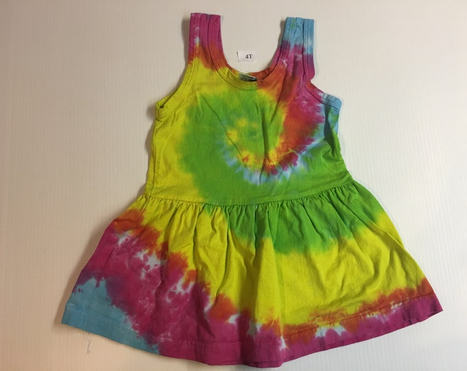 Pastel Tie Dyed Spiral Dress 4T, 6, 8