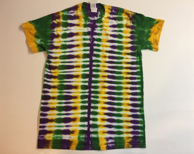 Mardi Gras Tie Dye Shirt Adult small