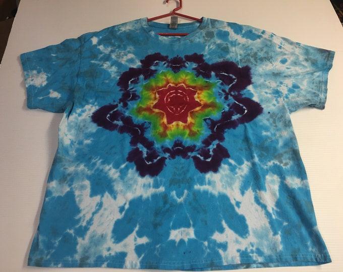 Tie dyed mandala tee shirt 3XL