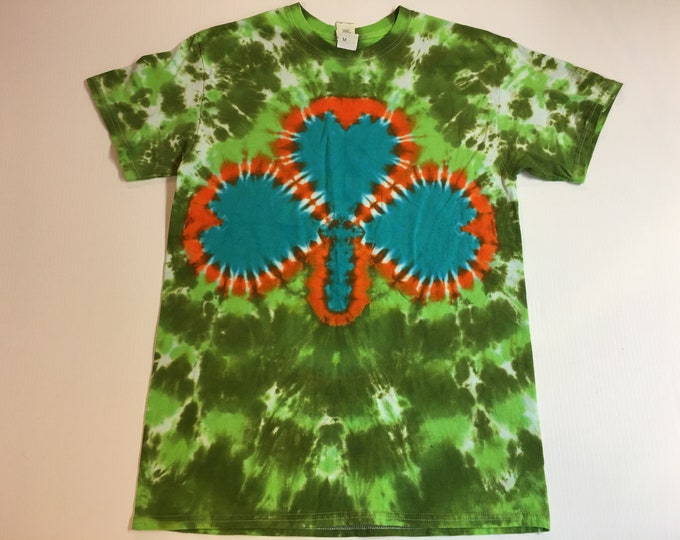 St. Patrick's Day Shamrock Tie Dye Tee Shirt all sizes