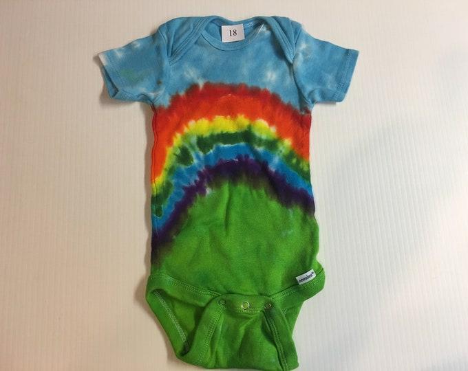 Tie Dyed Baby Rainbow Onesie all sizes