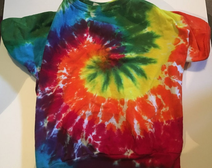 Rainbow Spiral Tie Dyed Animal Shirt size XL