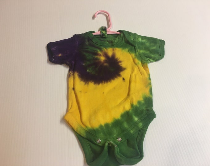 Tie Dyed Mardi Gras Baby Onesies 4 sizes two designs