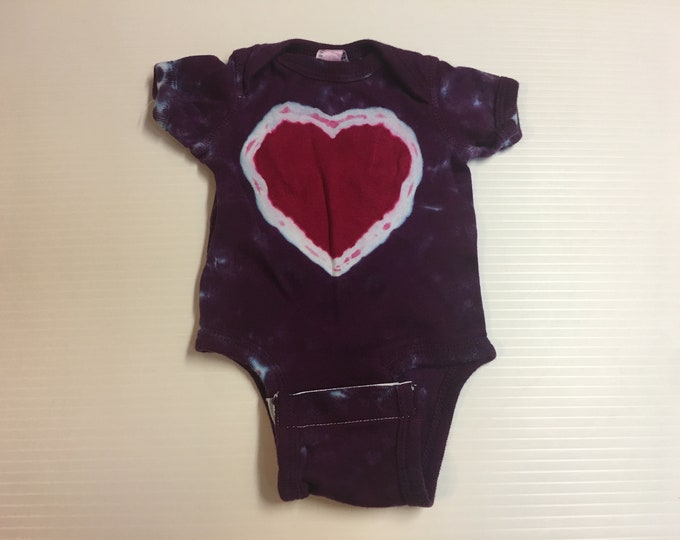 Tie Dyed Heart Baby Onesie all sizes