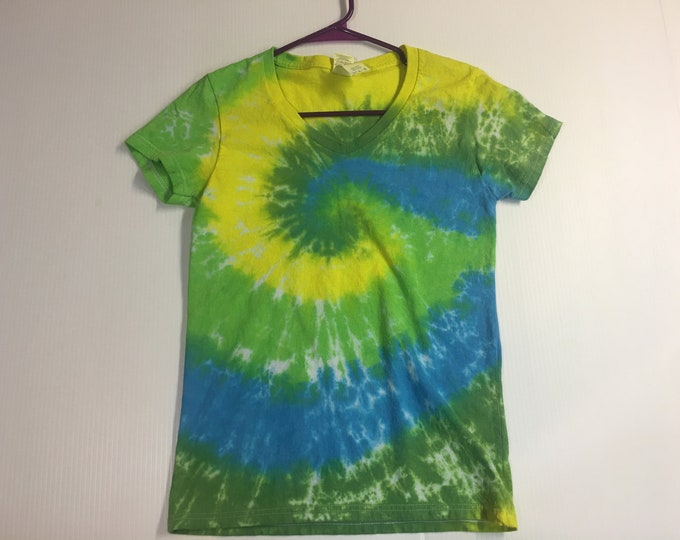 Ladies one of a kind  Spiral Tie Dyed Tee