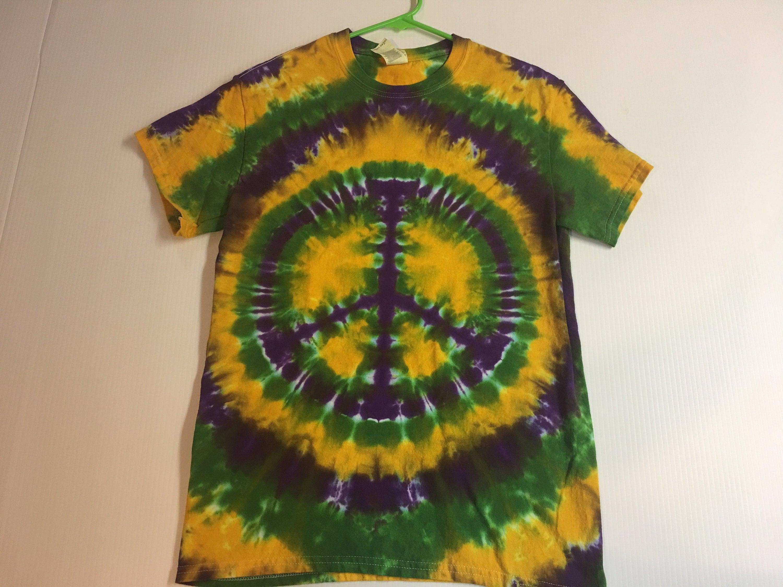 2e03132ec65cb Mardi Gras Peace Symbol Tie Dye Tee Shirt