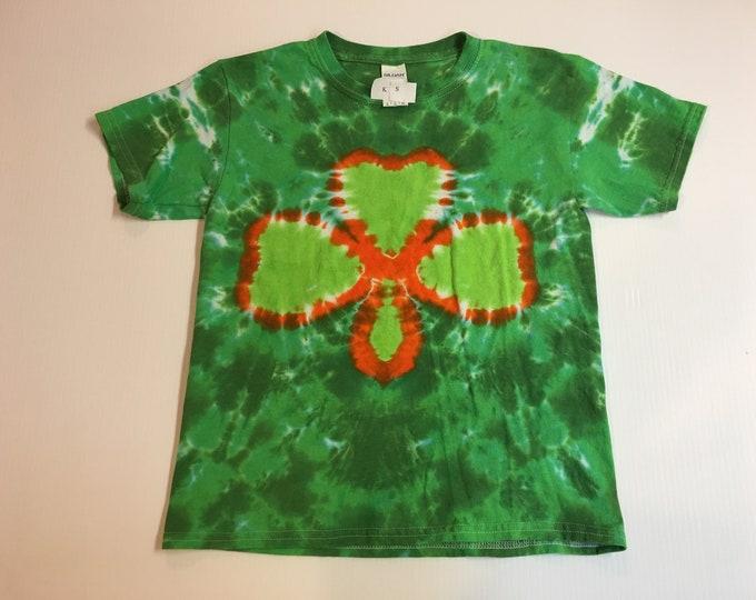 St. Patrick's day Shamrock Tie Dye Kids Shirt all sizes