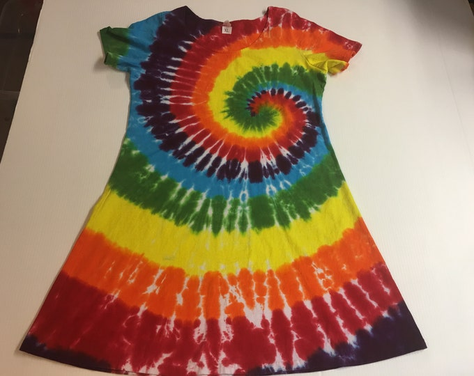 Rainbow Tie Dyed Dress Plus sizes