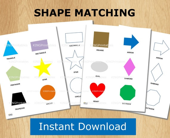 Shape Puzzle Toddler Learning Printable File Folder Games | Etsy