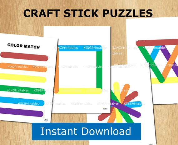 Printable Busy Book 12 Pages Craft Sticks Educational