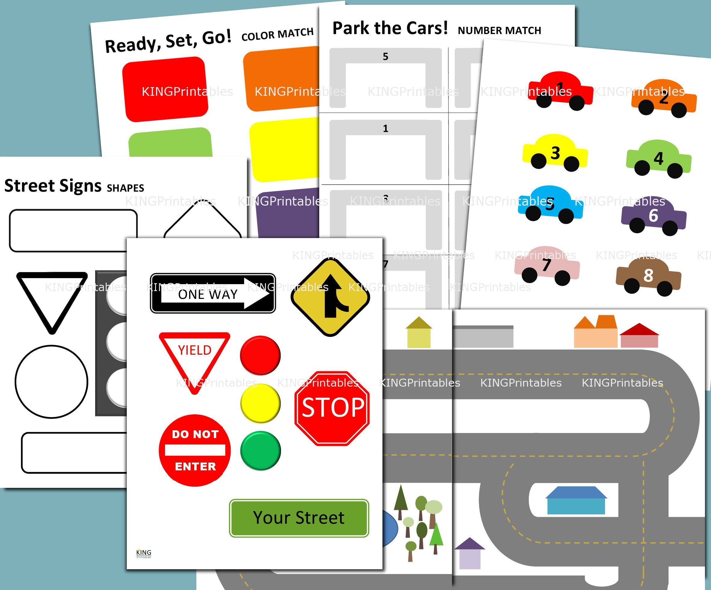 Printable Activity Pages Car Themed Transportation Party | Etsy