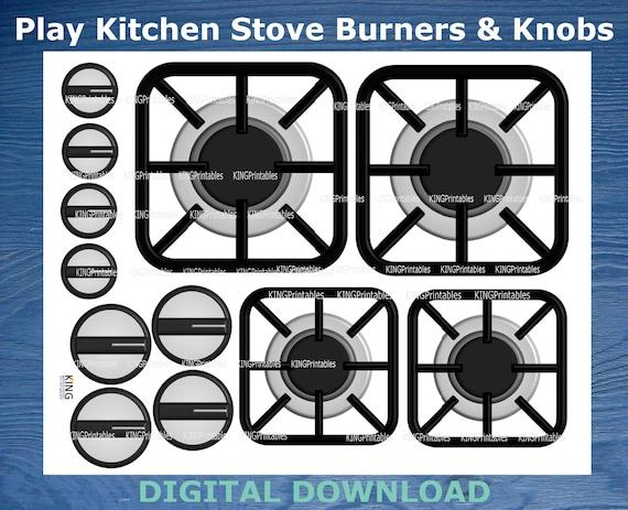 Printable Stove Burners Play Kitchen Accessories Diy Stove