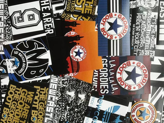 Newcastle United FC gro/Ã/Ÿer 3D Sticker