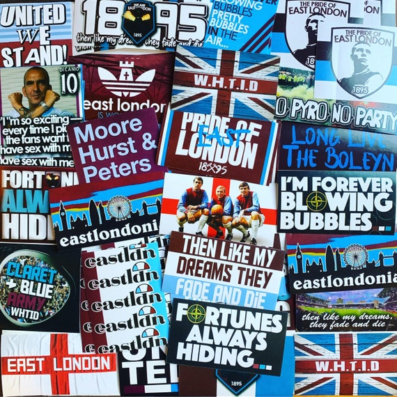 THESE COLOURS KEYCHAIN KEYRING WEST HAM ICF