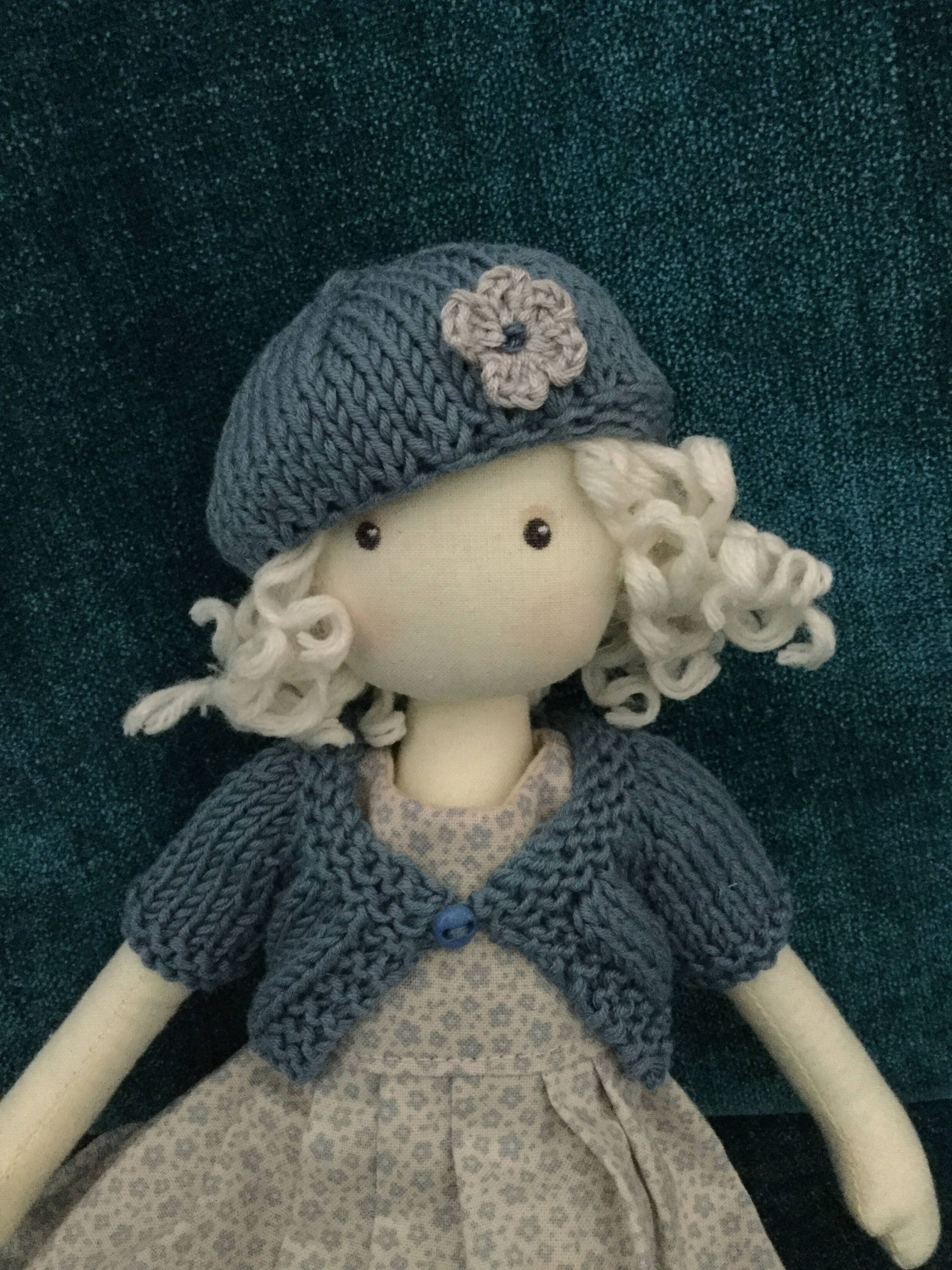 12 Doll Cardigan and Beret PDF Knitting Pattern for 30cm Kathe Kruse ...