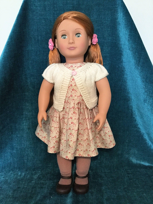 18 Doll Dress and Cardigan Pattern PDF Sewing and Knitting Pattern ...