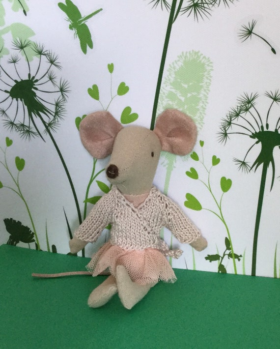 Dress and Cardigan PDF Sewing Knitting Pattern to fit  Big Sister Micro Mouse 13cm Digital Download