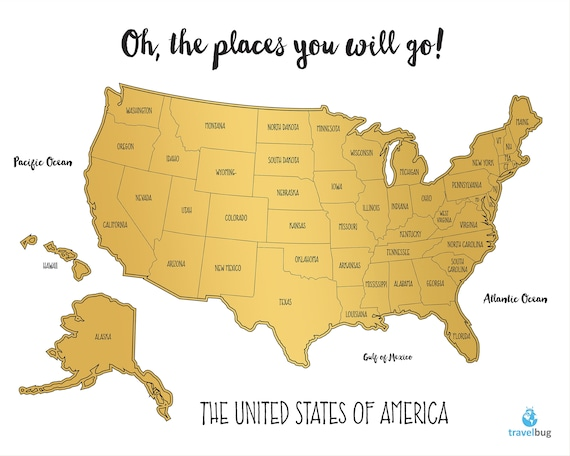 Watercolor United States of America Scratch Off Map (USA) (16\