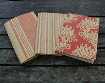 Plain notebook with stripped finish, pamphlet stitch, sketch pad,note pad