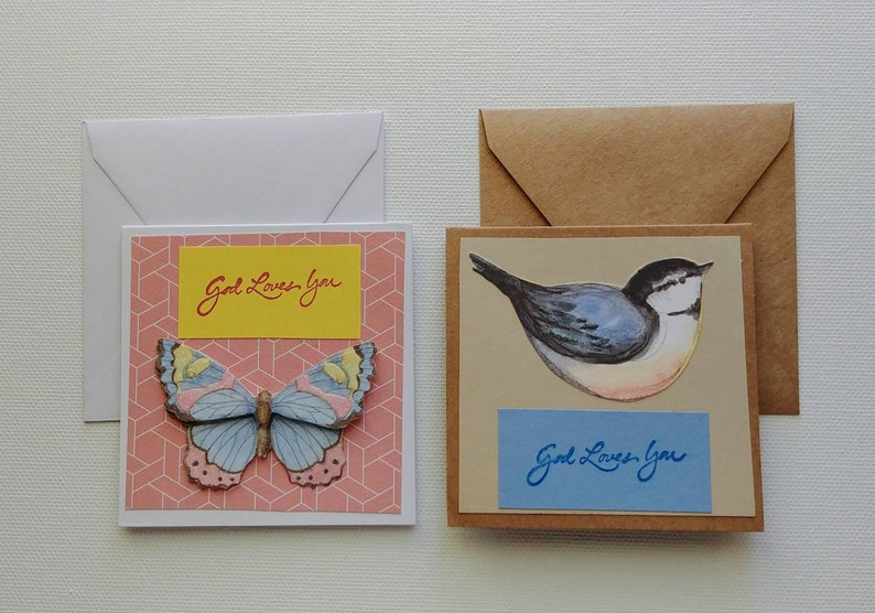 Handmade Mini Cards- 2 pack with