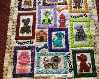 Applique baby quilt etsy