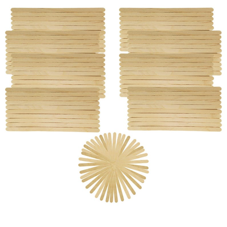 Brand New Small Thin Natural Wooden Popsicle Stick Stirrer For Kids School Home Diy Arts Craft Mixing Adhesive Glue Paint Project Supply