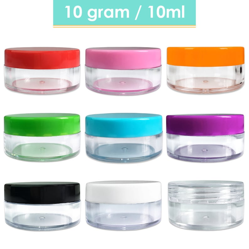 a26da96d30cb High Quality 10 Gram/ML Plastic Small Sample Container Jars for Cosmetic,  Jewelry, Beads, art craft supplies, food, candy, cream-BPA Free
