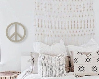 Peace sign wall art | Etsy