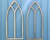 Vintage Inspired Thick Outer Frame Pointed Window Frames Wall Decor