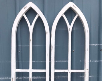 Double Framed 3d pointed Cathedral Window Frame Wood Cut Out Wall Decor