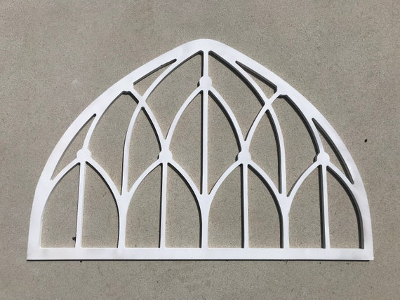 Large Wooden Arch Window Frame Wood Cut Out Wall Decor   Etsy