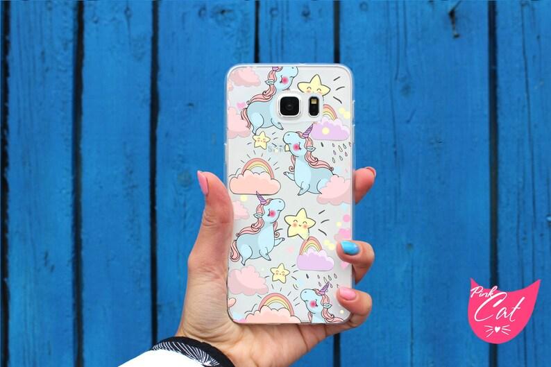low priced b3302 315ad Clear Unicorn case S6 Edge Plus Samsung S7 Edge S8 Plus S6 Active S7 Active  S7 phone case S8 S6 Edge Samsung A3 A5 A7 2017 Galaxy A5 2016