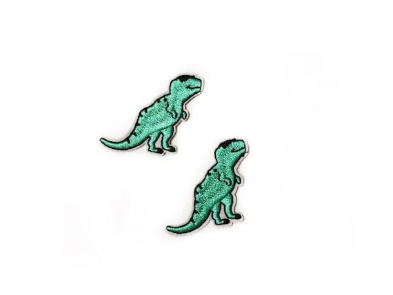 Small Patch Iron On Patch Button Patches Digital Embroidey Scheme Dinosaur Patch Dinosaur Applique Dino Patch Tiny Patch