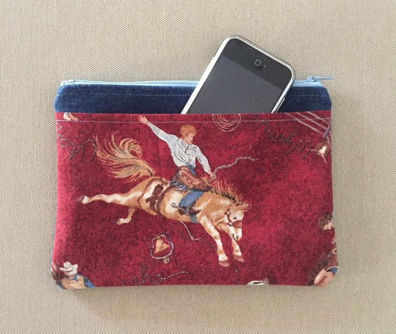 Rodeo Accessory Zippered BagPouch with Pocket