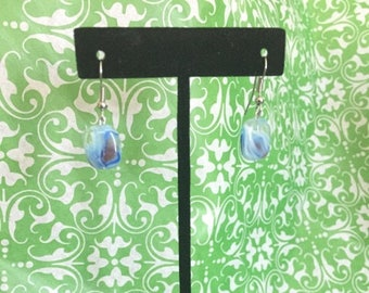Blue Lentil Earrings