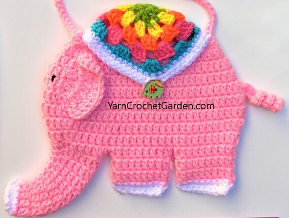Crochet Pattern Elephant Bag Handbag Purse Guide Detailed Etsy