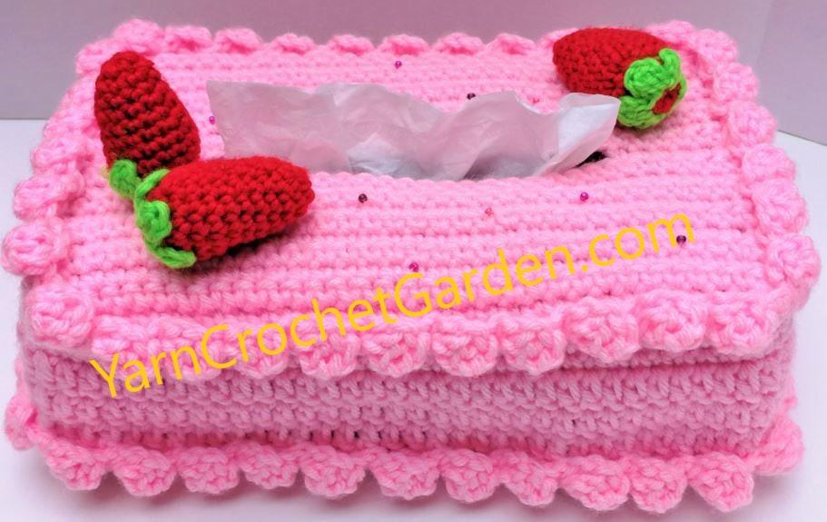 Crochet Pattern Valentines Day Tissue Box Cover Holder Etsy