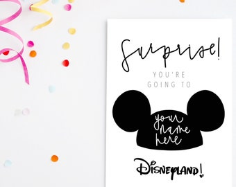 photo regarding You're Going to Disneyland Printable referred to as Heading in the direction of disneyland Etsy