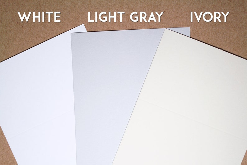 Ivory or Light Gray Place Cards Wedding Place Cards Navy or Gray Ink Escort Cards with Black White