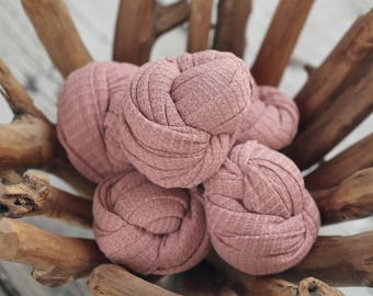 Dusty Rose Stretch Knit Wrap, Newborn Photo Prop, Pink Stretch Knit Wrap, Newborn Photography Wrap, Newborn Photography Layers - RTS