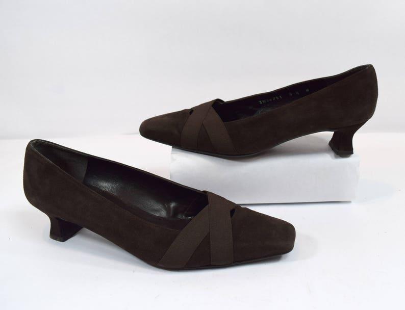 148f81cf7890f Stuart Weitzman Vintage Brown Suede Leather Pump Heels Size 8.5W Wide Made  in Spain