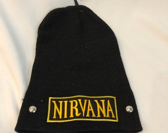 d68251a857e Nirvana embroidered patch Winter Beanie
