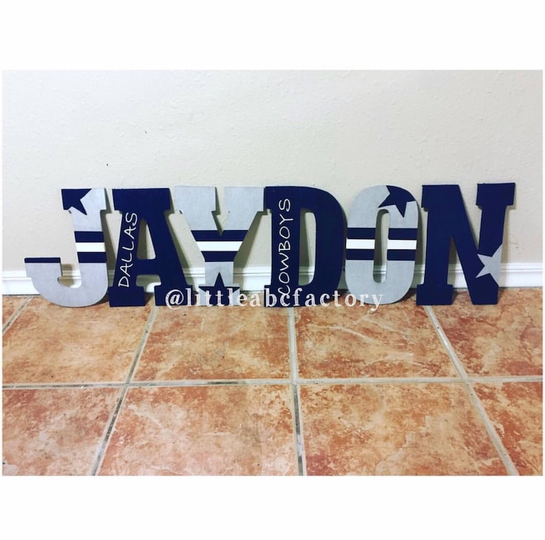 Sports Letters Nfl Letters Nfl Team Letters 11in Dallas Etsy