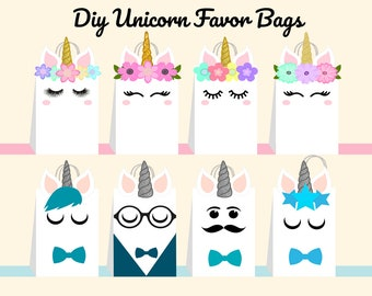 Unicorn party bags | Etsy