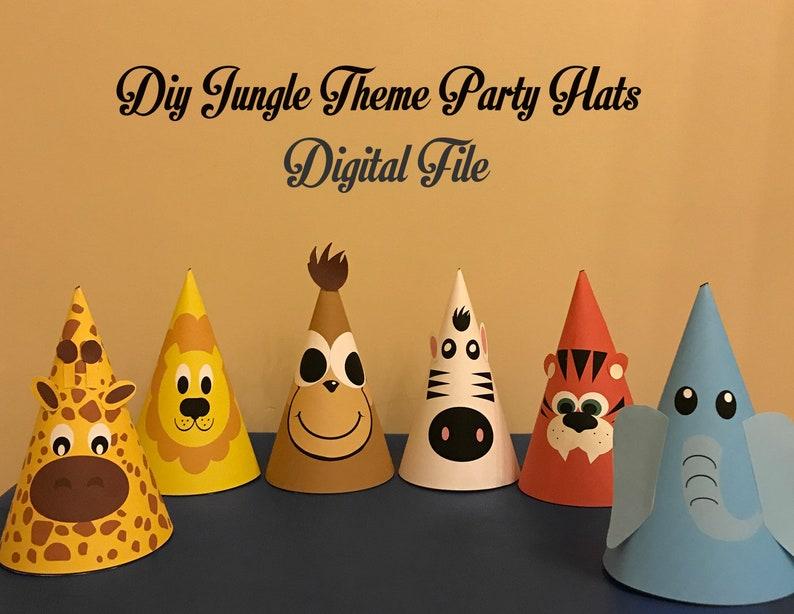 Jungle Safari DIY Hat Template Party
