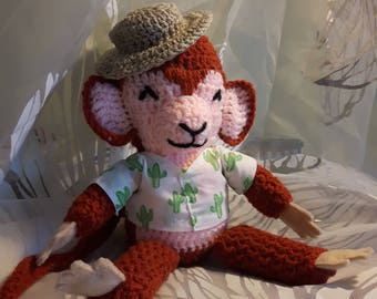 Crochet Amigurumi monkey toy